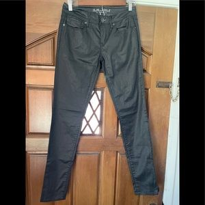 Black Bullhead faux leather skinny pants